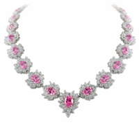 Penelope Halo Cluster Marquise Round Oval Statement Necklace