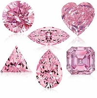 Pink Diamond Look Cubic Zirconia Loose Stones