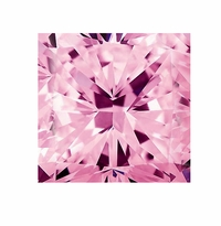Princess Cut Pink Diamond Look Cubic Zirconia Loose Stones