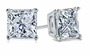 Princess Cut Square Cubic Zirconia Stud Earrings