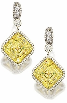 Rohbeir 8.5 Carat Each Asscher Cut Cubic Zirconia Halo Pave Drop Earrings