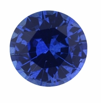 Round Blue Sapphire Lab Created Synthetic Loose Stones