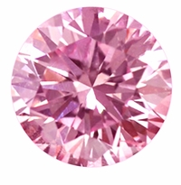 Round Pink Diamond Look Cubic Zirconia Loose Stones