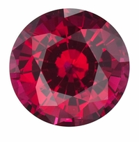 Round Ruby Lab Created Synthetic Loose Stones