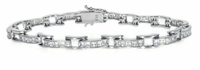 Saxony Channel Set Princess Cut Cubic Zirconia Bracelet