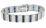 Sephira Alternating Princess Cut and Round Cubic Zirconia Bracelet