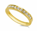 Spencer Round Channel Set Cubic Zirconia Anniversary Band