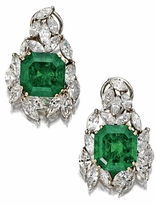 St. Catherine 8.5 Carat Cushion Cut Cubic Zirconia Marquise Cluster Earrings