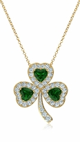 St. Patricks Day Lucky Shamrock Irish Clover Leaf Pendant