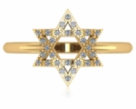 Star of David Pave Set Cubic Zirconia Ring