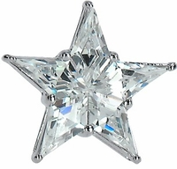 Starla Star Tie Tack and Star Kite Cut Cubic Zirconia Lapel Pin