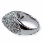 Summit Pave Set Round Cubic Zirconia Right Hand Ring