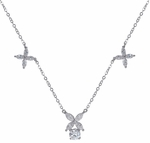 Victoria Round and Marquise Cubic Zirconia Flower Motif Necklace