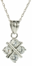 Tic Tac Toe Cubic Zirconia Hugs and  Kisses X and O  Pendant