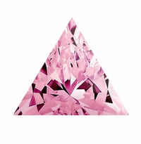 Trillion Triangle Pink Diamond Look Cubic Zirconia Loose Stones