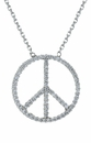 Unity Peace Pave Set Round Cubic Zirconia Necklace