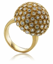 Universa Dome Cubic Zirconia Right Hand Cocktail Ring