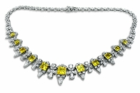 Weston Princess Cut Pear Round Marquise Garland Statement Necklace
