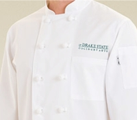 Drake Culinary Student Chef Coat with Logo