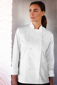 Lite SOFIA White Chef Jacket for Women