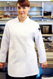 ST. TROPEZ White Women's Chef Jacket
