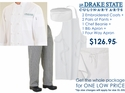 Drake State Culinary Student Uniform PACKAGE DEAL!
