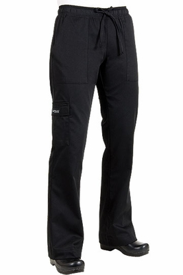 Women's Black Chef Cargo Pants