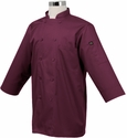BURGUNDY Wine 3/4 Sleeve Basic Light Weight Chef Jacket