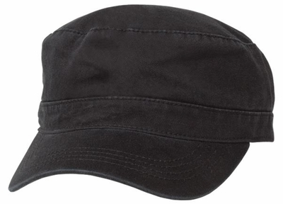 Black Military Chef Cap