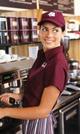 Burgundy WINE Cool Vent Women's Server Shirt