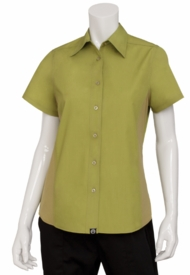 Key LIME GREEN Cool Vent Women's Server Shirt