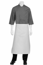 White TAPERED  Apron