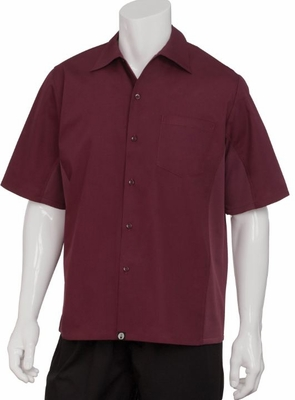 Burgundy WINE Cool Vent<br> Men's Server Shirt