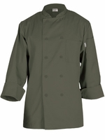 Basic Chef Jacket in Olive Green