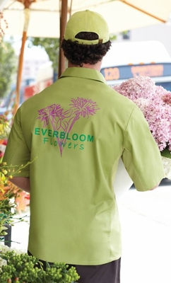 Key LIME GREEN Cool Vent<br>Men's Server Shirt