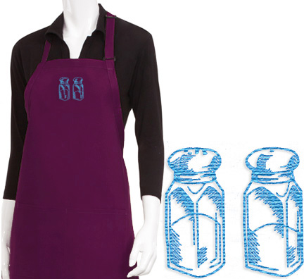 Salt and Pepper Embroidered Apron