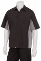 GRAY and BLACK Contrasting Waiter Uniform Shirt