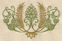 Hops and Grain Embroidered Apron