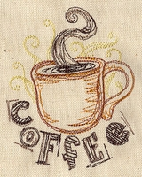 Designer Coffee Embroidered Apron