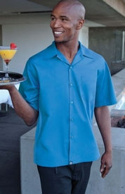 Caribbean BLUE Cool Vent <br>Men's Server Shirt