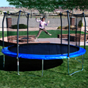 Skywalker 17' X 15' Oval Blue Trampoline and Enclosure (Shipping Included)