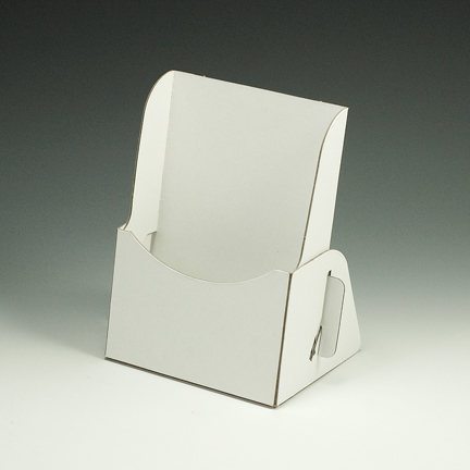 Cardboard brochure holders cardboard brochure holder for Cardboard brochure holder template