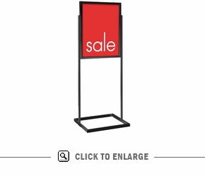 free standing poster frames bulletin style free standing graphic