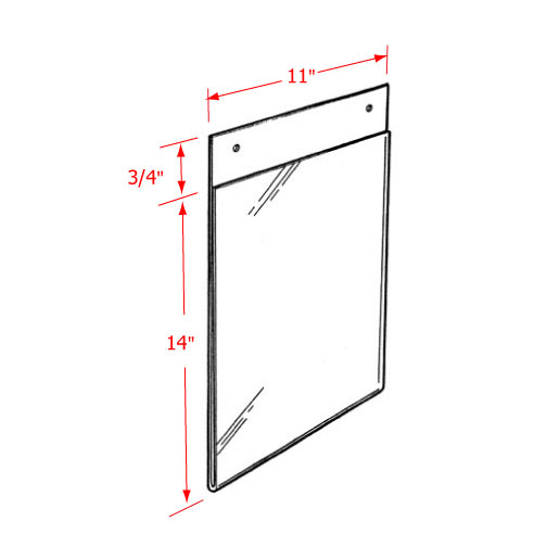 Acrylic Wall Mount with Flush Top or Mounting Holes - Wall-Mount ...