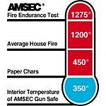 Amsec Extra Large Fire Rated Electronic Wall Safe