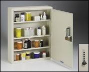 Narcotics Medicine Cabinet With Keyless Lock