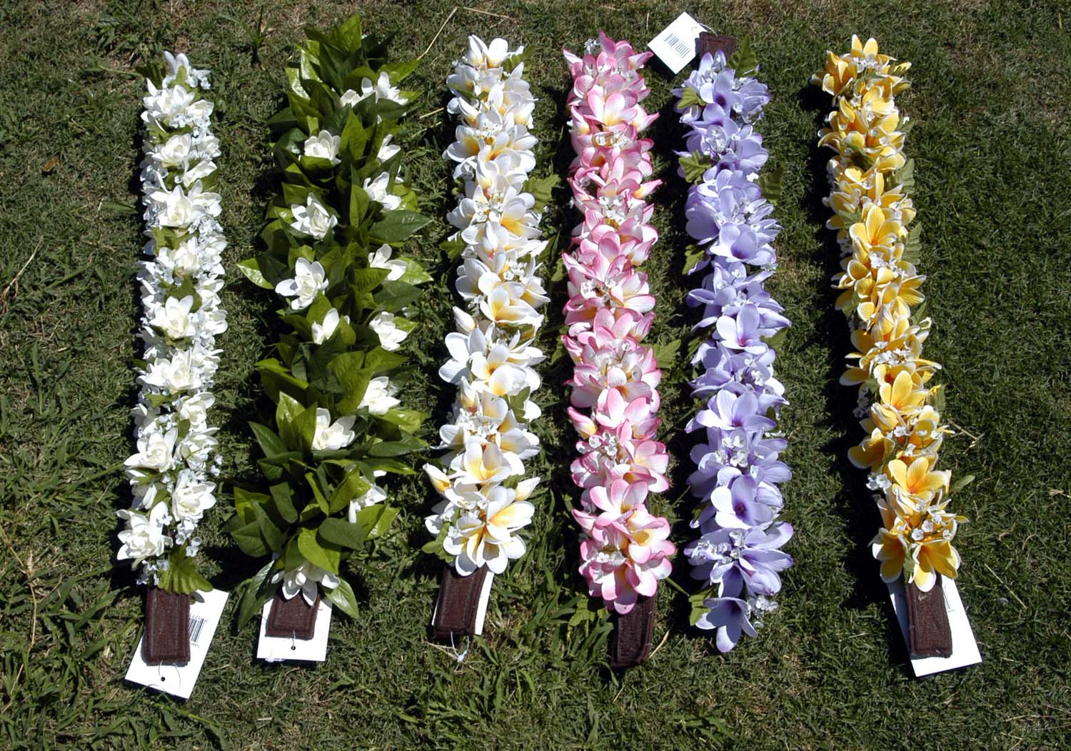 Headbands colorfull artificial silk flower leis hair accessories beautiful hawaiian tuberose and plumeria silk flower headbands brown fabric backing with velcro fastener 24 long end to end one size fits all mightylinksfo