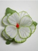 Single Hibiscus Hair Clip - #10 white /green