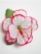 Single Hibiscus  Hair Clip - #7 white /pink
