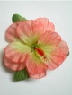 Single Hibiscus  Hair Clip - #17 peach